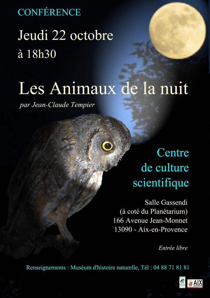 Conférence les animaux de la nuit